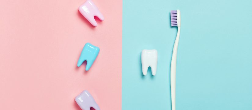 dental implants and toothbrush
